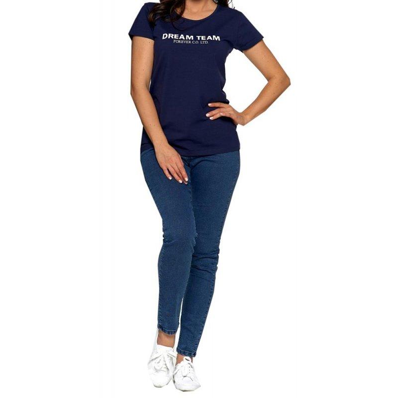 Koszulka damska MORAJ BD1100-554 - GRANATOWA