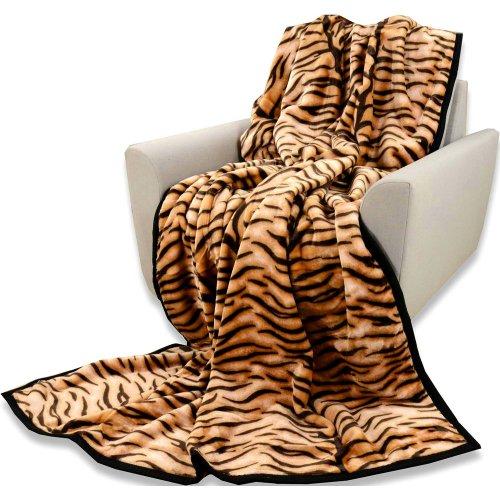 Koc tygrys Akrylowy Narzuta ELWAY 160x210 Koc Tygrys 160x210 Koc na Prezent dla Chlopaka Koc Elway 160x200