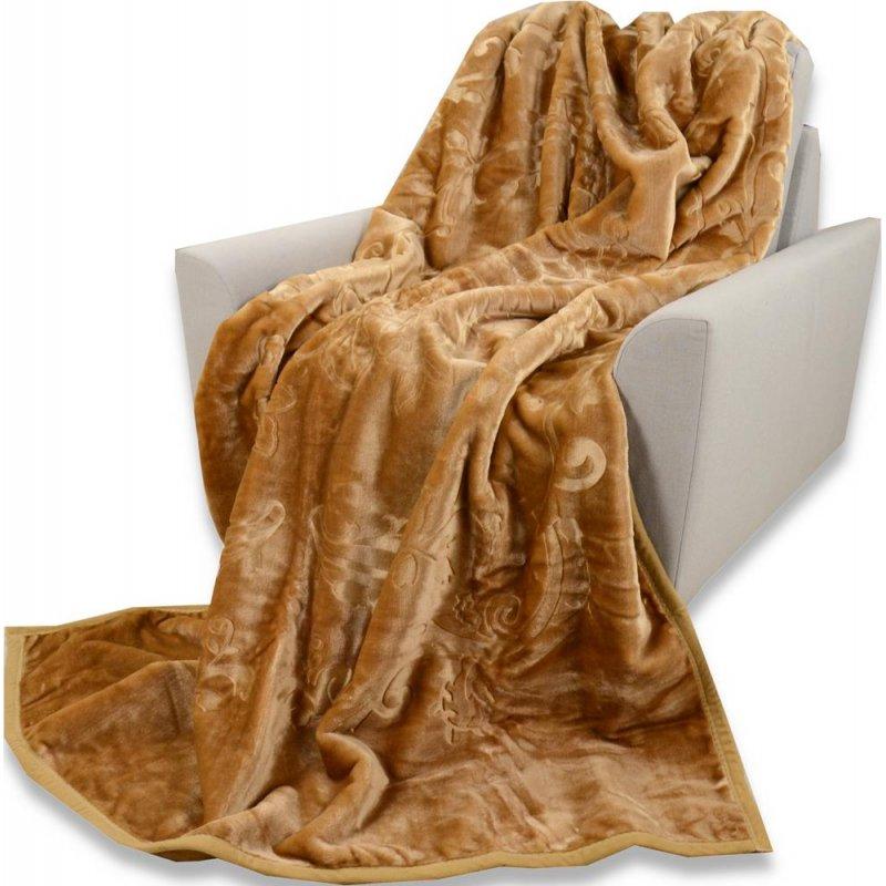 Koc Akrylowy Tłoczony Narzuta ELWAY 200x240 Kolor 19 Narzuta Koc na Kanapę