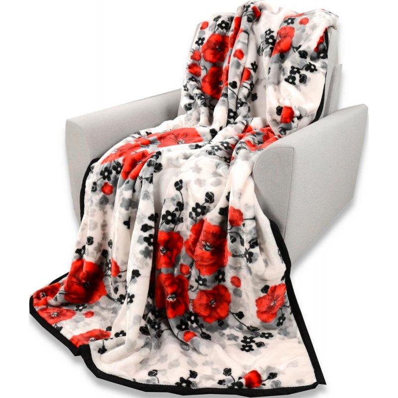 Koc Akrylowy Narzuta ELWAY 160x210 Wzór 85 Koc Młodzieżowy na Łóżko Koc Elway Koc 160x200 Koc w Kwiaty