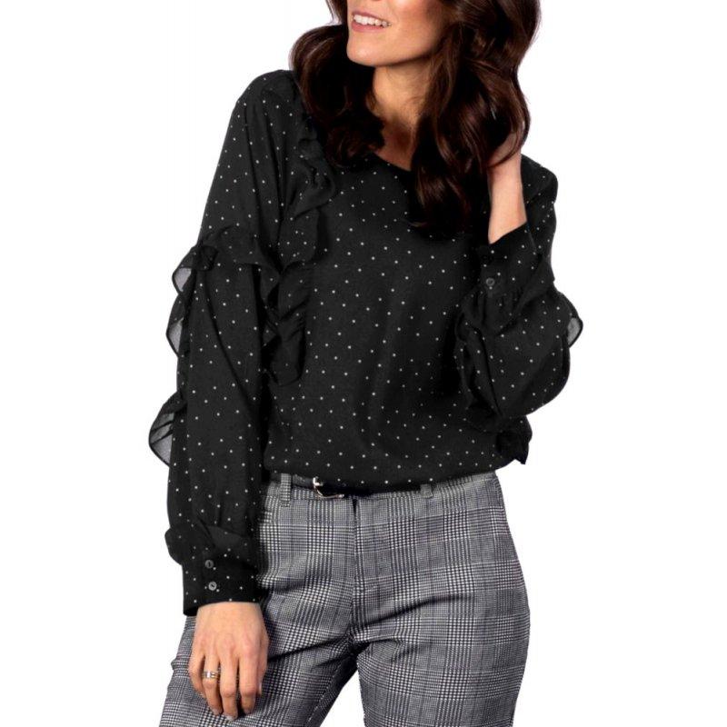 Bluzka K-DEE- czarna w kropki