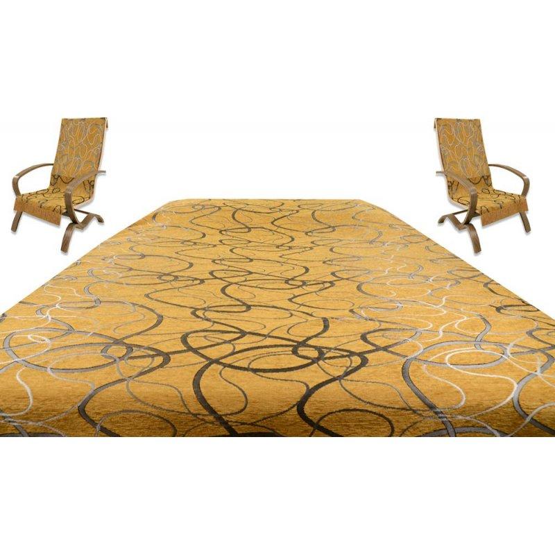Komplet narzut na kanapę i fotele 170x200 i 50x150 8915 Miodowa