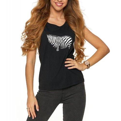 Koszulka damska ZEBRA- BD700-003 - czarna