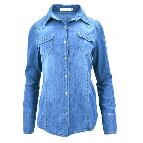 Klasyczna jeansowa koszula 003