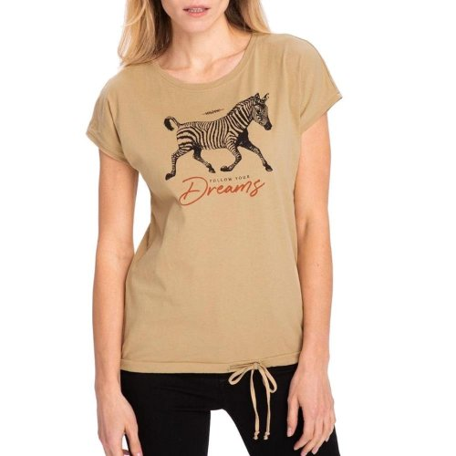 Koszulka damska T-ZEBRA- beżowa