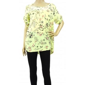 Luźna bluzka w kwiaty (żółta)