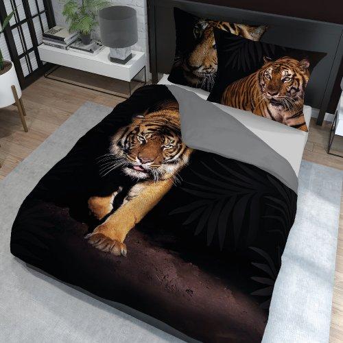 Pościel Holland Nature 160x200 100% Bawełna Tygrys 3519A Pościel z tygrysem Pościel tygrys Pościel w tygrysy honelderska