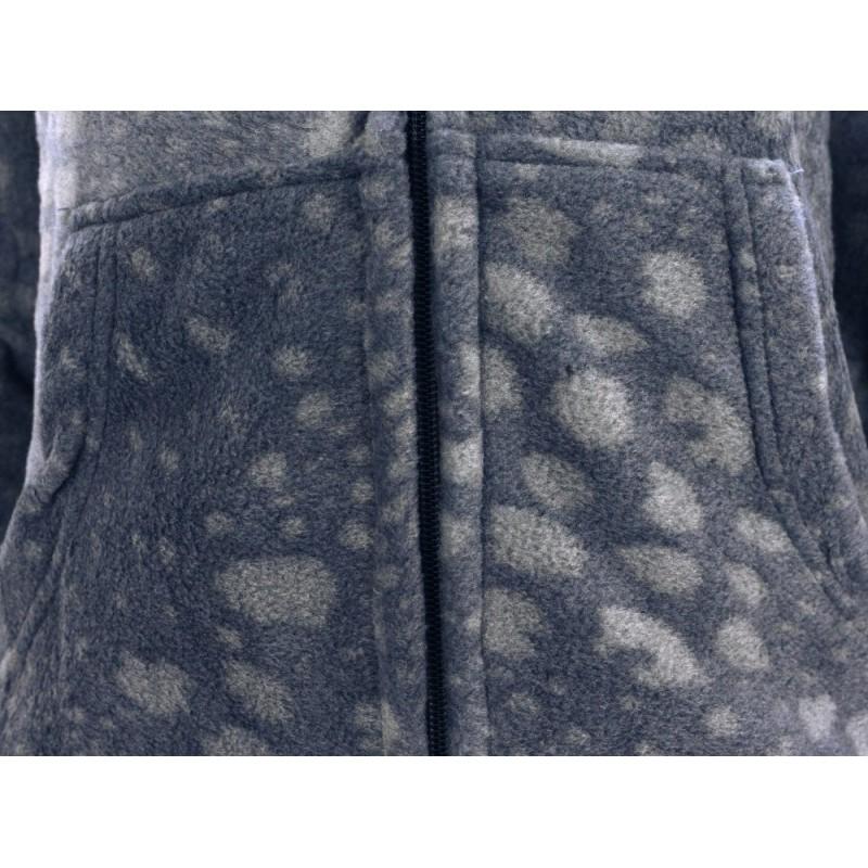 BLUZA POLAROWA REFREE z kapturem wzorzysta (szara)