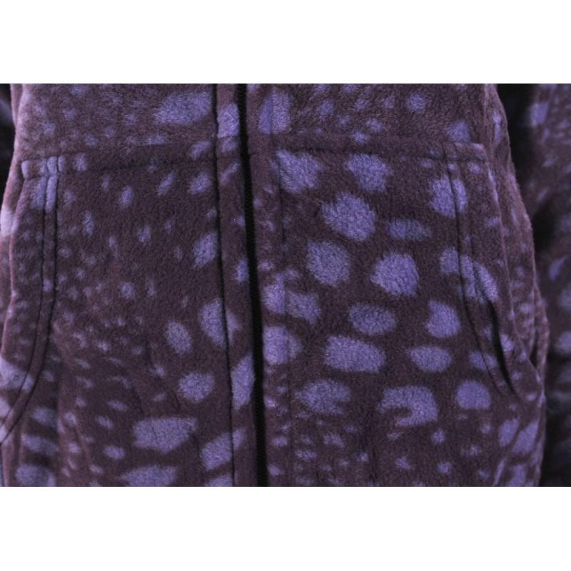 BLUZA POLAROWA REFREE z kapturem wzorzysta (śliwkowa)