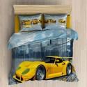 Pościel 3D BAWEŁNA POLSKI PRODUCENT WZ. 089 Pościel z samochodem Pościel Bawełniana 160x200 Pościel Młodzieżowa Pościel 160x200