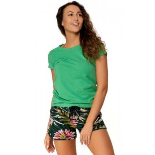 Zielona Koszulka Damska Krótki Rękaw BD900-420