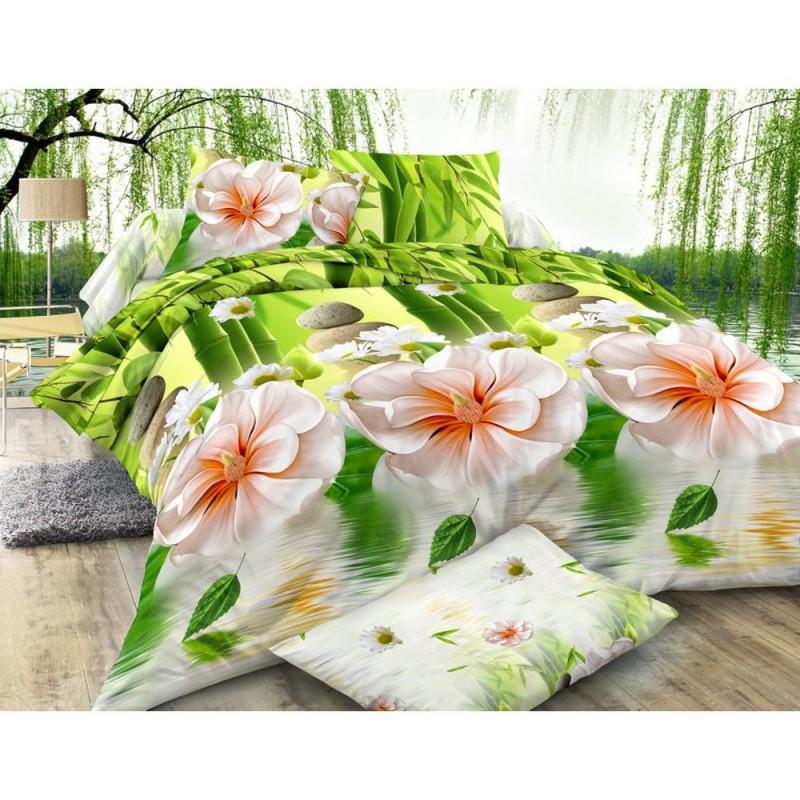 Pościel 3D FLOWERS (bambus) 160x200 Pościel z Mikrowłókna Pościel 3D 160x200 Pościel 160x200 Pościel w Kwiaty