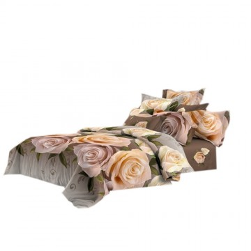 Pościel 3D FLOWERS (beige roses) 160x200