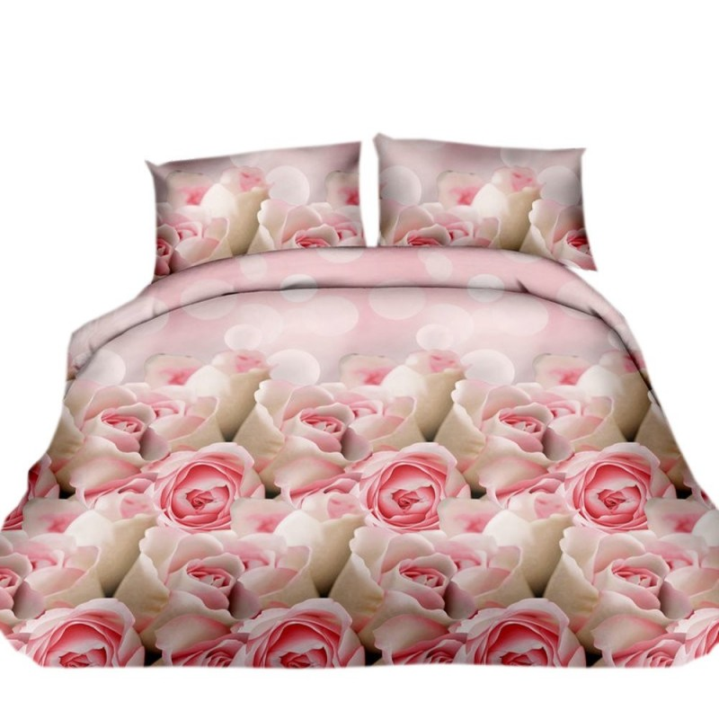 Pościel 3D FLOWERS (roses1) 160x200 Pościel 3D Pościel 160x200 Pościel z Mikrowłókna 160x200 Pościel w Kwiaty