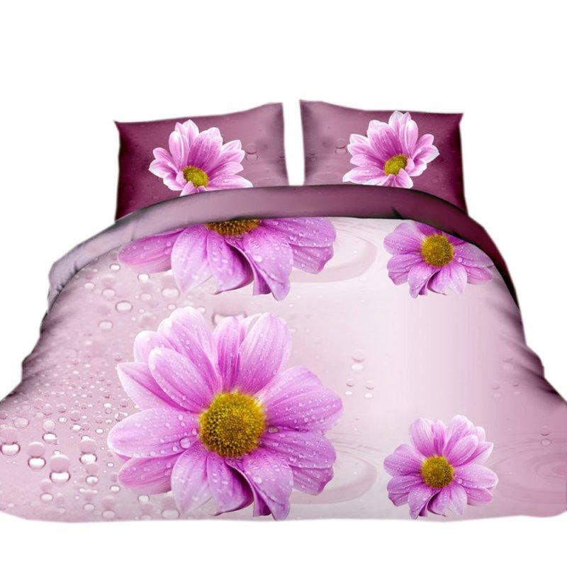 Pościel 3D FLOWERS (daisy) 200x220 Pościel 200x220 Pościel 3D Pościel z Mikrowłókna 200x220 Pościel w Kwiaty