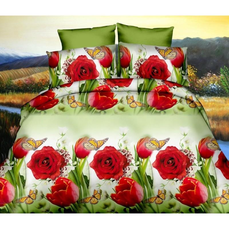 Pościel 3D FLOWERS (łąka) 200x220 Pościel w Kwiaty Pościel z Mikrowłókna Pościel 3D Pościel 200x220 Pościel Cotton World