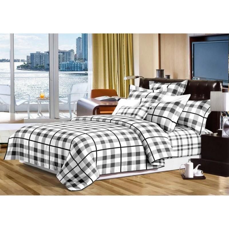 Pościel black & white (kratka) 200x220 Pościel 200x220 Pościel Cotton World Pościel 200/220