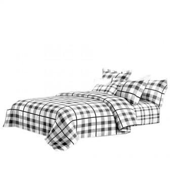Pościel black & white (kratka) 200x220