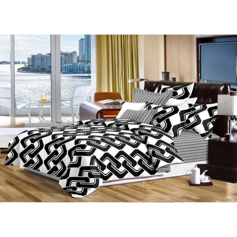 Pościel black & white (łańcuch) 160/200 Pościel 160x200 Pościel Cotton World