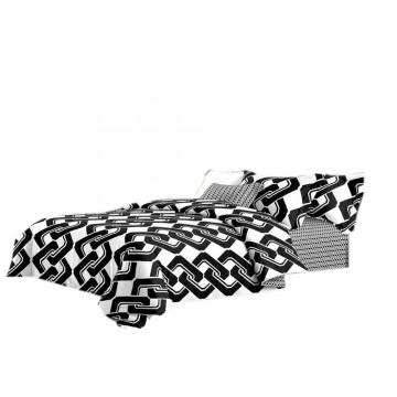 Pościel black & white (łańcuch) 160x200