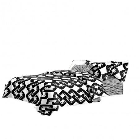 Pościel black & white (łańcuch) 200x220