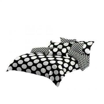 Pościel black & white (grochy) 160x200