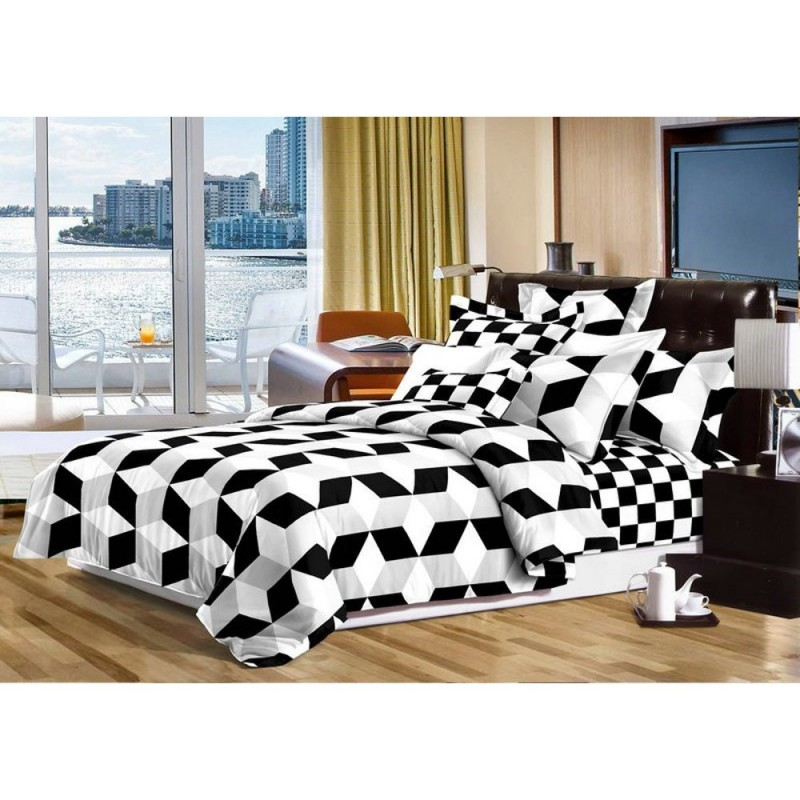 Pościel black & white (romby) 160x200 Pościel 160x200 Pościel Cotton World