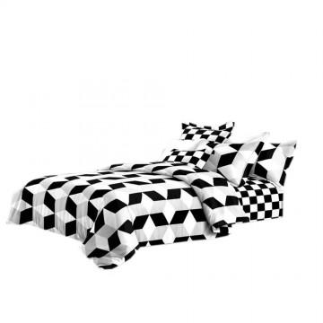 Pościel black & white (romby) 160x200