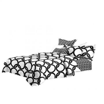 Pościel black & white (koła) 160x200
