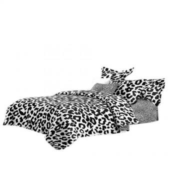 Pościel black & white (panterka) 160x200