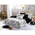 Pościel black & white (motyle) 160x200 Pościel 160x200 Pościel Cotton World