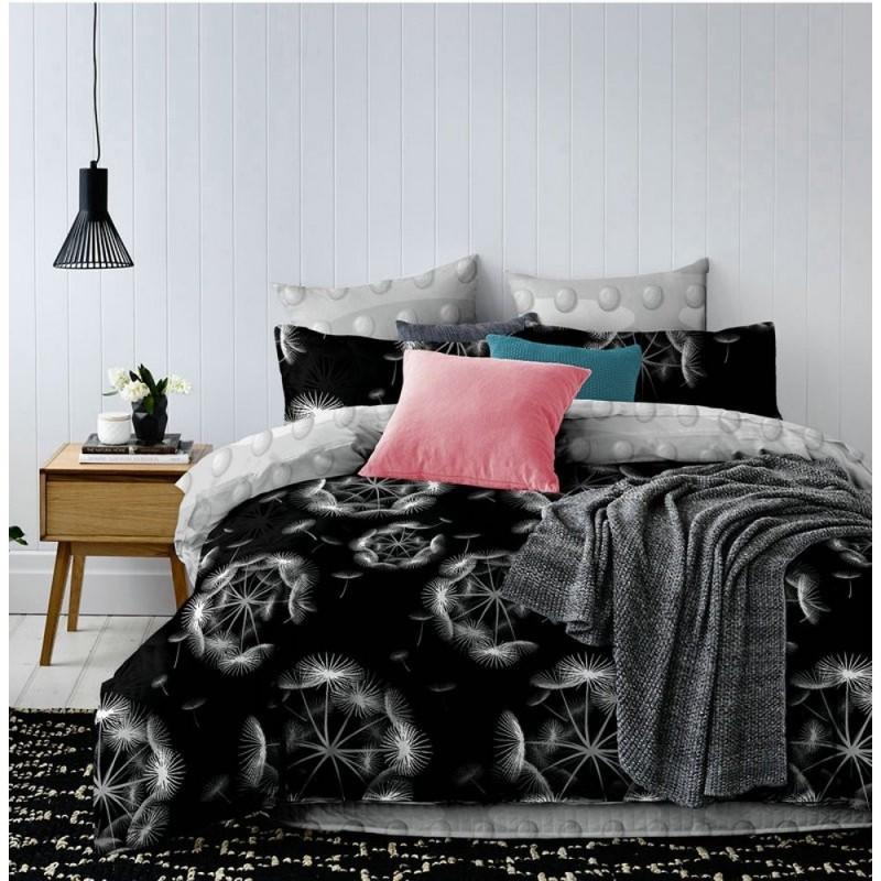 Pościel black & white (dmuchawce) 160x200 Pościel 160x200 Pościel Cotton World