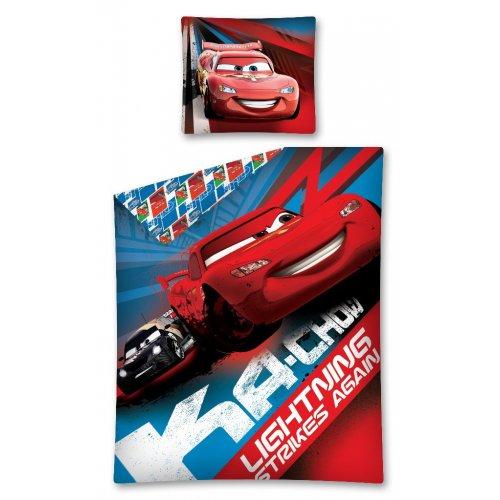 Pościel AUTA 140x200 CARS05DC 100% Bawełna Pościel McQueen Pościel w Auta Pościel z Zygzakiem McQueen