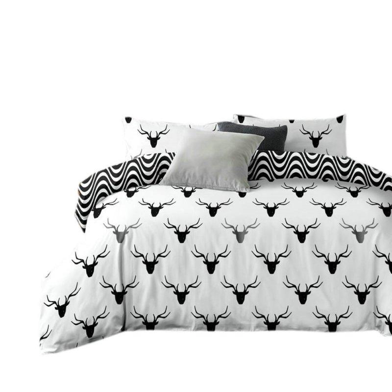 Pościel black & white (jeleń) 200x220