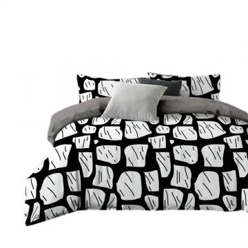 Pościel black & white (mur) 160x200