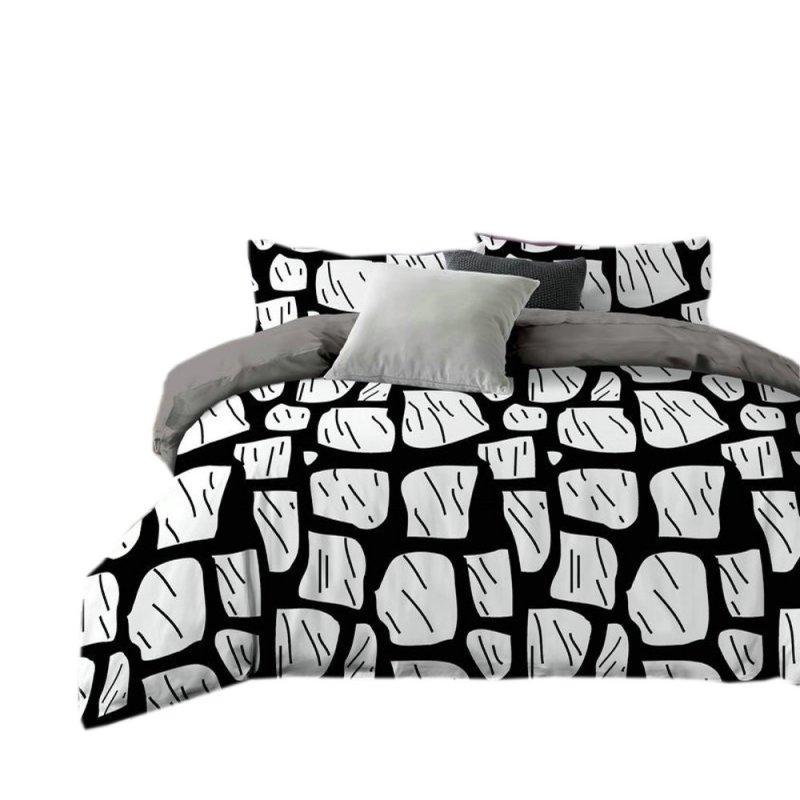 Pościel black & white (mur) 160x200 Pościel Cotton World Pościel 160x200
