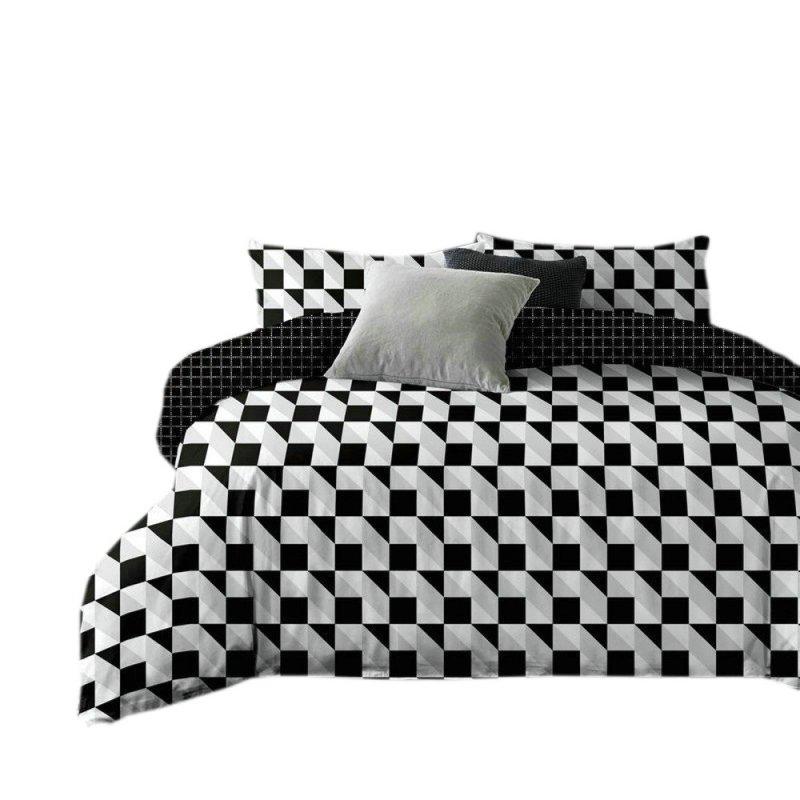 Pościel black & white (wzór geometryczny1) 160x200