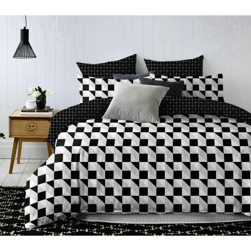 Pościel black & white (wzór geometryczny1) 200x220 Pościel z Mikrowłókna 200x220 Pościel 200x220 Pościel 200/220