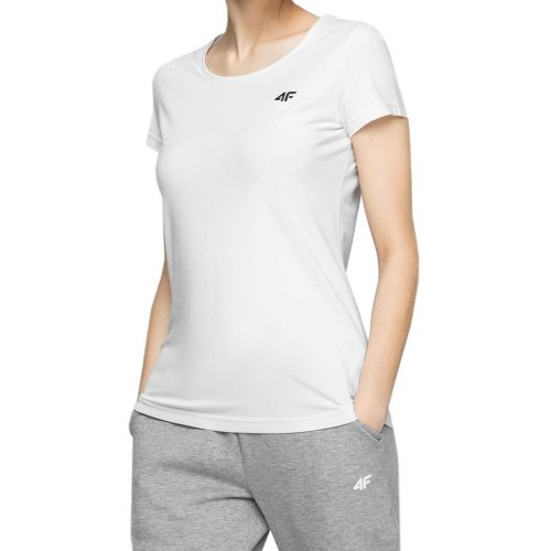 Koszulka damska basic 4F NOSH4 TSD001 - biała