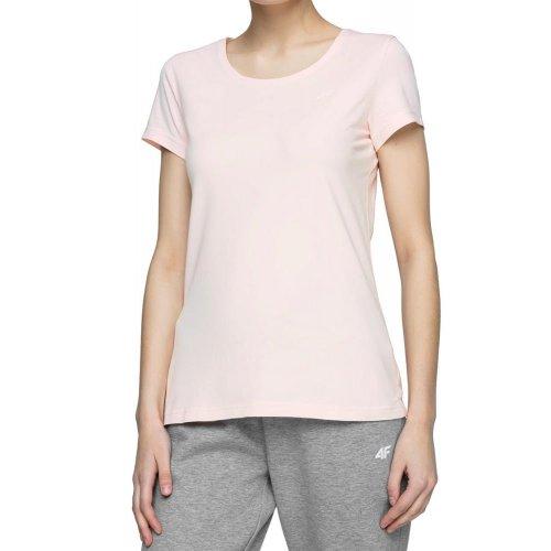 Koszulka damska basic 4F NOSH4 TSD001 - jasnoróżowa