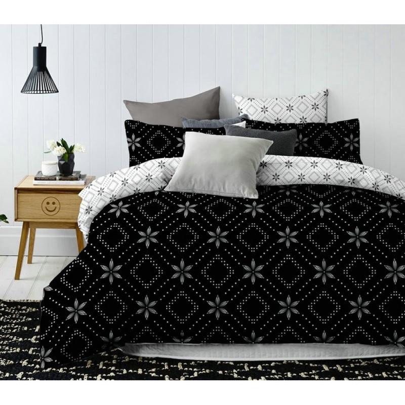 Pościel black & white (NightFlowers) 160x200 Pościel Cotton World Pościel 160x200