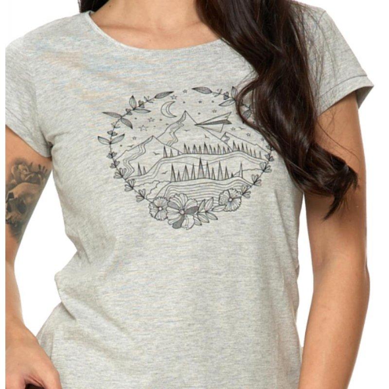 Koszulka damska MOUNTAIN-  szara