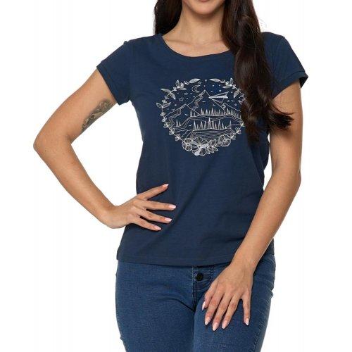 Koszulka damska MOUNTAIN-  granatowa