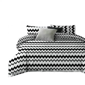 Pościel black & white (zigzag) 200x220