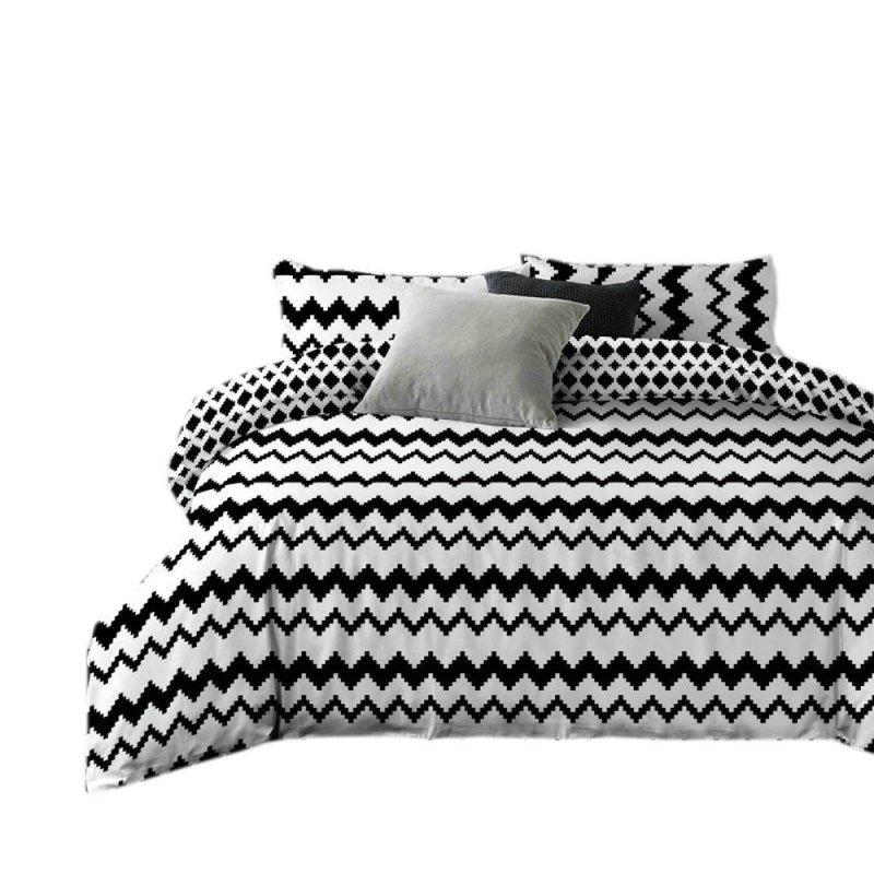 Pościel black & white (zigzag) 200x220 Pościel Mikrowłókno 200x220 Pościel 200x220 Pościel 200/220