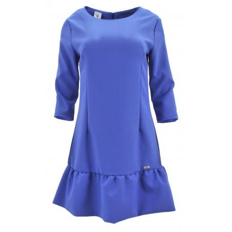 Sukienka z falbaną na dole (jasnoniebieska)