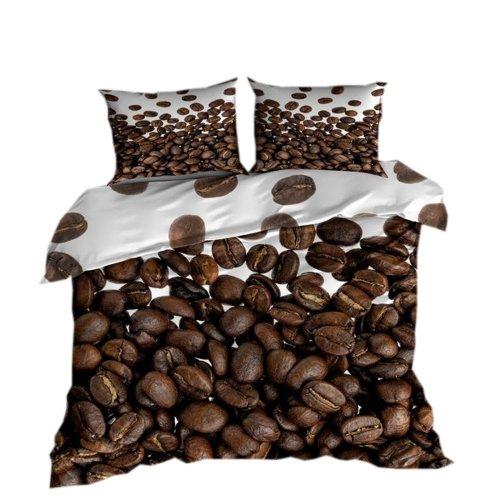 Pościel 3D 100 % BAWEŁNA POLSKI PRODUCENT WZ. 036 Pościel kawa