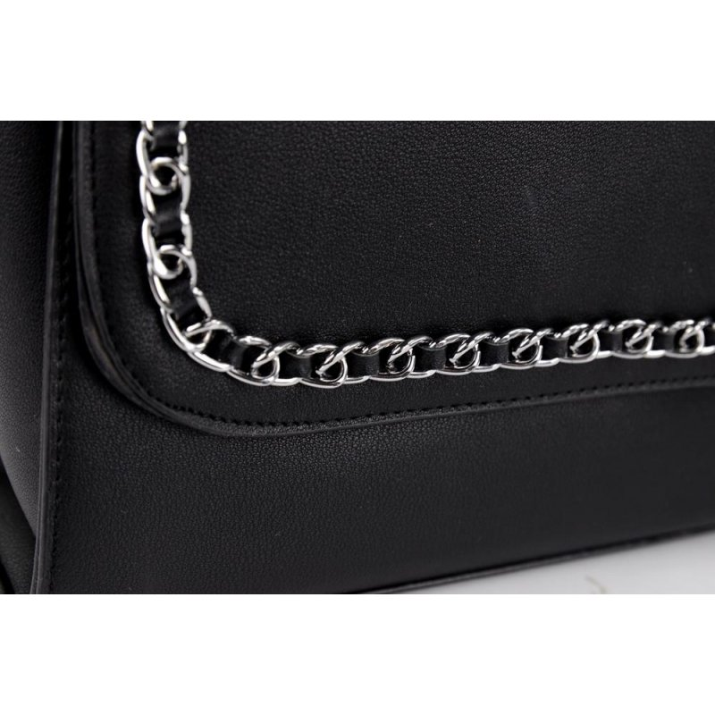 Elegancka torebka listonoszka damska 8661-9 - czarna