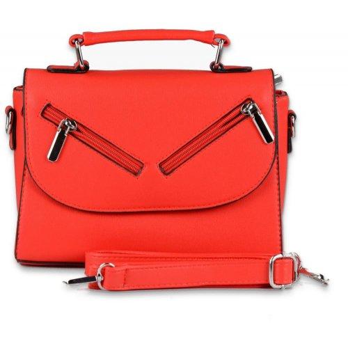 Elegancka torebka listonoszka damska 8661-1 - czerwona