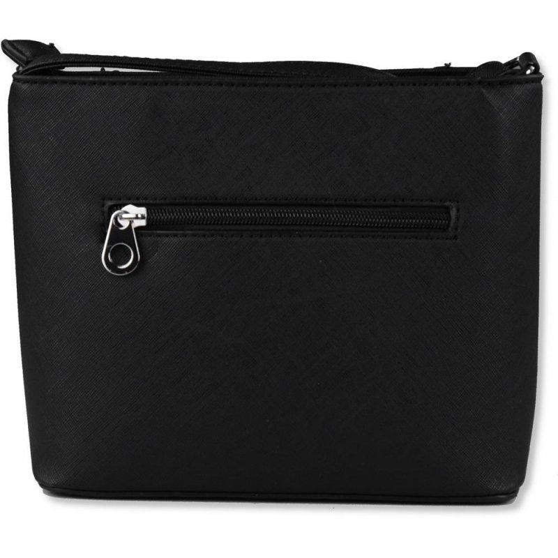 Elegancka torebka listonoszka damska H6077 - czarna